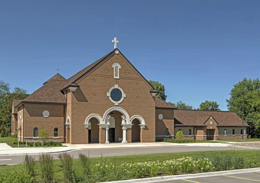 brick church design